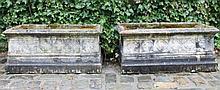 Pair of nineteenth-century Gothic sandstone planters