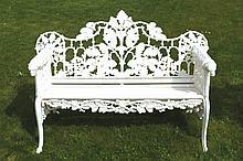 Cast iron Coalbrookdale garden bench