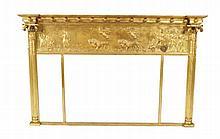 Regency period gilt framed over mantle mirror