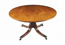 George III period mahogany circular dining table