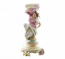 Brevete Biancion a Paris porcelain figure of a conch shell