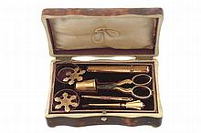 Nineteenth-century 14 ct. Dutch gold etui/sewing kit