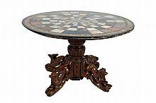 Nineteenth-century carved oak animalia carved centre table