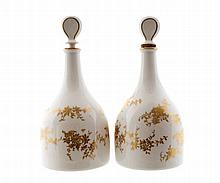 Pair Aristocrat Crown Staffordshire decanters