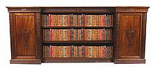 Edwardian period Adam style mahogany library floor bookcase