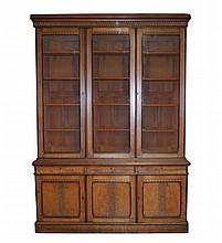 Large nineteenth-century period aesthetic revival walnut bookcase