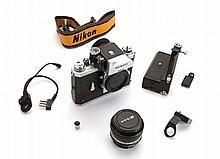 Nikon F camera and accessories