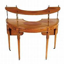George III style mahogany social hunt table