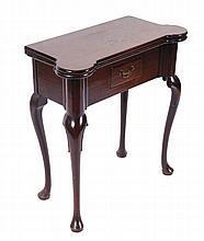 George II period mahogany tea table, circa 1740