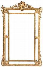 Nineteenth-century gilt frame cushion mirror