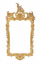 George III period carved gilt wood framed pier mirror