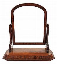 Victorian mahogany crutch mirror