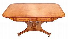 William IV period satinwood library table, circa 1800