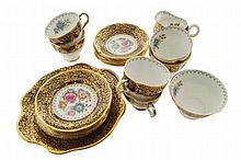 Twenty-one piece Royal Tara china tea set