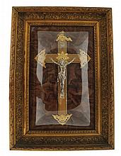 Nineteenth-century gilt and silvered crucifix