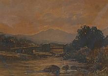 Four unframed watercolours