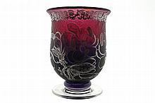 Jonathan Harris silver overlaid cameo vase