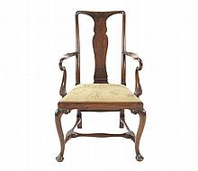 Nineteenth-century mahogany Queen Anne style child's chair