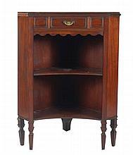 Nineteenth-century walnut corner cabinet