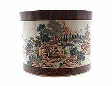Chinese Republican period polychrome brush pot