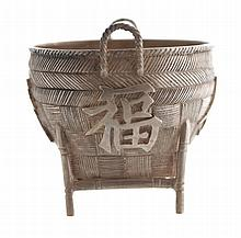 Chinese nineteenth-century silver salt pot