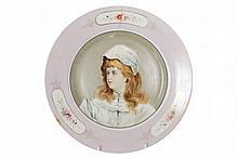 Ninteenth-century portrait porcelain plate