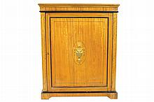 Nineteenth-century satinwood marquetry and ebony string inlaid side cabinet