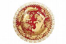 Royal Crown Derby parcel-gilt fruit plate