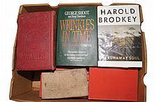 A large box of mostly hardback books