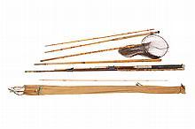 Lot of vintage fishing split cane rods