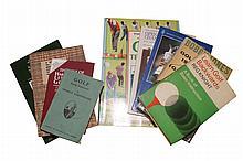 Eight books on golf