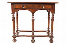 Burr walnut William and Mary style side table