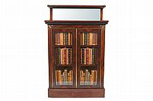 Petite Regency period rosewood and brass mounted dwarf bookcase, circa 1810