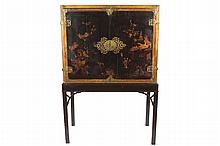 Eighteenth-century period lacquered cabinet on stand