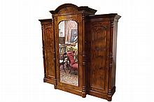 Large William IV period mahogany wardrobe