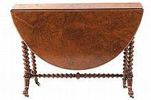 Nineteenth-century Burr walnut yacht table