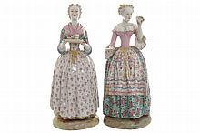Pair of nineteenth-century Dresden porcelain figures