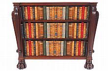 Regency period mahogany open bookcase