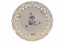 Set of four KPM porcelain plates