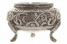 Antique Asian silver salt cellar
