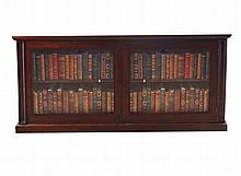 Regency period mahogany dwarf bookcase