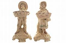 Pair of Worcester porcelain figures