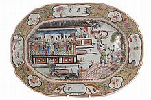 Pair of eighteenth-century Chinese famille rose platters