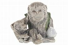 Chinese porcelain figure of a monkey