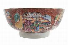 Eighteenth century Chinese punch bowl