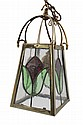 Edwardian brass dinner lantern
