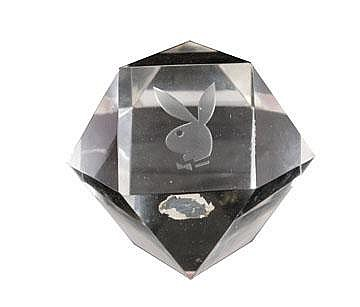 Playboy glass paperweight
