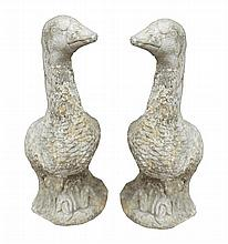 Pair of stone geese