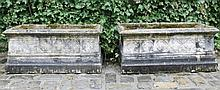Pair of nineteenth-century Gothic sandstone planters