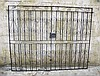 Pair wrought iron garden gates